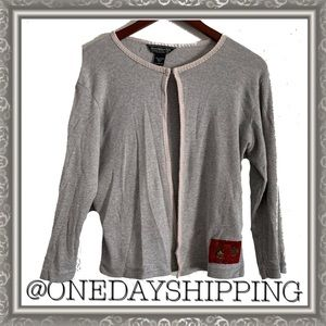 Abercrombie and Fitch Gray Cardigan Sweater